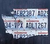 Washington License Plate Map