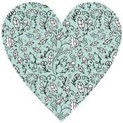 Blue Flower Heart