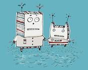 Robots On Beach