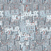 Robot City Pattern