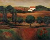 Crimson Light In Tuscany