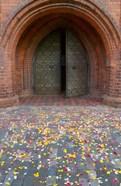 Flower petals, St Anne's Church, Vilnius, Lithuania