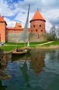 Island Castle by Lake Galve, Trakai, Lithuania I
