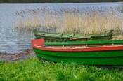 Colorful Canoe by Lake, Trakai, Lithuania I
