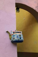 Wall Decorated with Teapot and Cobbled Street in the Old Town, Vilnius, Lithuania III