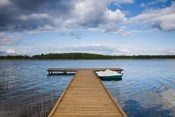 Lake and pier, Grutas, Southern Lithuania, Lithuania