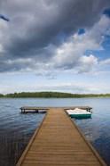 Lithuania, Grutas, lake and pier