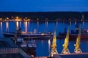 Lithuania, Klaipeda, Commercial port and Lagoon