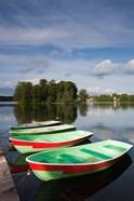 Lithuania, Trakai Historical NP, Lake Galve boats