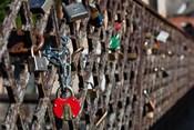Lithuania, Vilnius, Footbridge, Lovers' Locks