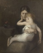 The Sick Child (Madame Eugene Carriere and Son Leon), 1885