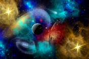 Galaxy  featuring planets, galaxies and Nebulae