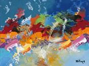 Abstract Ocean Blue 5