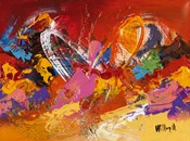 Abstract Orange Summer 1