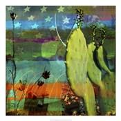 Cactus & Flag Collage