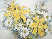 Yellow Lilies-Forget Me Nots-Daisy's