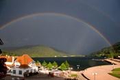 Rainbows at Lake Gerardmer, France