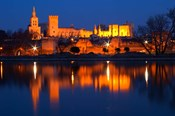 Pope's Palace in Avignon and the Rhone River