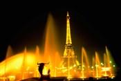 Fountain at the Eiffel Tower, Paris, France