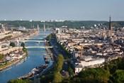 City Above Seine River, Rouen