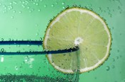Margarita Glass And Lemon Closeup I