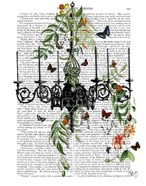 Chandelier With Vines and Butterflies