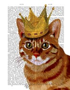 Ginger Cat with Crown Portrai