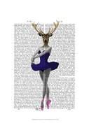 Ballet Deer in Blue I