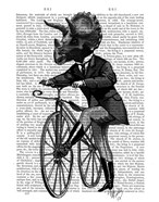 Triceratops Man on Bike Dinosaur