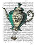 Flying Teapot 1 Green and Yellow