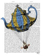 Flying Teapot 3 Blue and Yellow