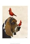 Basset Hound and Birds II