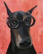 Doberman With Glasses