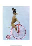 Greyhound on Red Penny Farthing