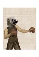 Boxing Bulldog Portrait