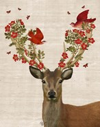Deer and Love Birds