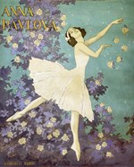 Design for a Poster of Anna Pavlova Gouache