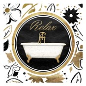 Relax Gold Floral Bath