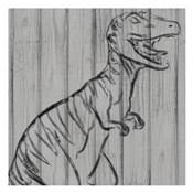 Dino On Wood I