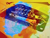 Ferrari Engine Watercolor