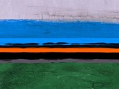 Abstract Stripe Theme Orange and Blue