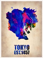 Tokyo Watercolor Map 1