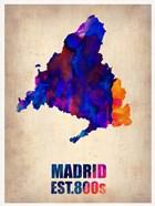 Madrid Watercolor Map
