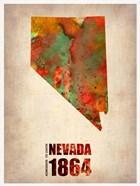Nevada Watercolor Map