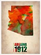 Arizona Watercolor Map