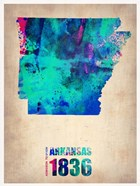Arkansas Watercolor Map