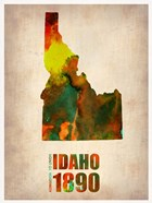 Idaho Watercolor Map