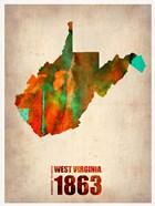 West Virginia Watercolor Map