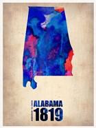 Alabama Watercolor Map