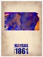 Kansas Watercolor Map